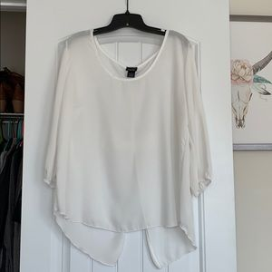 Rue 21 sheer bow blouse.